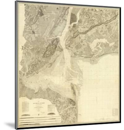 Map of New York Bay and Harbor and The Environs, c.1844--Mounted Art Print