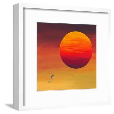 Full Sun-M^ Bineton-Framed Art Print