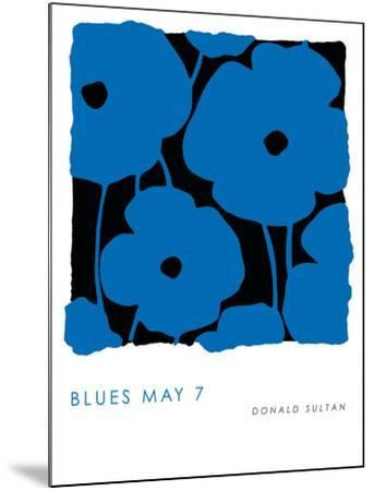 Blues, May 7 2009-Donald Sultan-Mounted Art Print