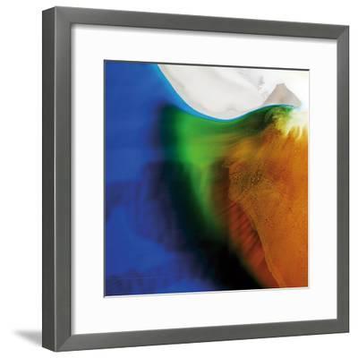 Blue, Green, and Orange Flow, c.2008-Pier Mahieu-Framed Premium Giclee Print