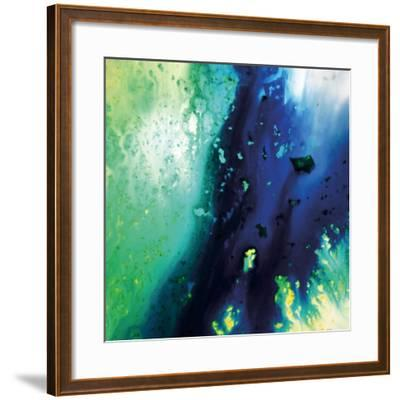 Blue and Green Flowing Abstract, c. 2008-Pier Mahieu-Framed Premium Giclee Print