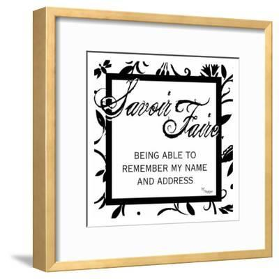 French Lesson Floral VI-Melody Hogan-Framed Art Print