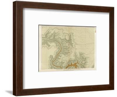 Grand Canyon: Geologic Map of the Southern Kaibab Plateau (Part I, North-West), c.1882-Clarence E^ Dutton-Framed Art Print