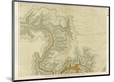 Grand Canyon: Geologic Map of the Southern Kaibab Plateau (Part I, North-West), c.1882-Clarence E^ Dutton-Mounted Art Print