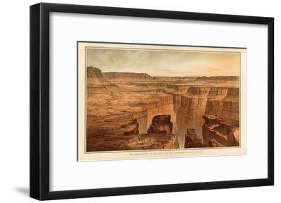 Grand Canyon: Foot of the Toroweap looking East, c.1882-William Henry Holmes-Framed Art Print