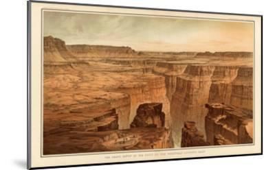 Grand Canyon: Foot of the Toroweap looking East, c.1882-William Henry Holmes-Mounted Art Print