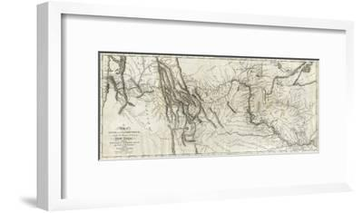 Map of Lewis and Clark's Track, Across the Western Portion of North America, c.1814-Lewis & Clark-Framed Art Print