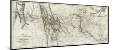 Map of Lewis and Clark's Track, Across the Western Portion of North America, c.1814-Lewis & Clark-Mounted Art Print