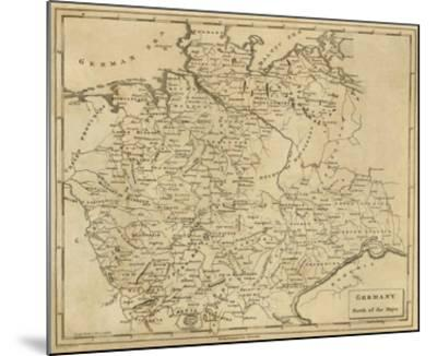 Germany North, c.1812-Aaron Arrowsmith-Mounted Art Print