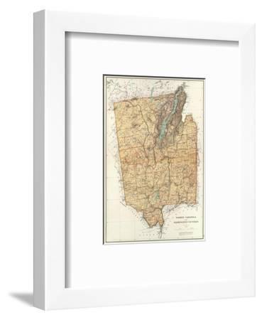 New York: Warren, Saratoga, Washington Counties, c.1895-Joseph Rudolf Bien-Framed Art Print