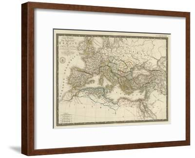 Empire Romain sous Constantin, c.1822-Adrien Hubert Brue-Framed Art Print