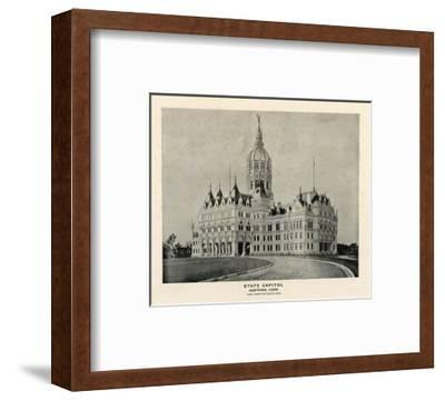 State Capitol, Hartford, Connecticut, c.1893--Framed Art Print