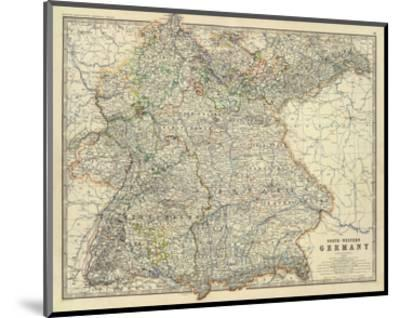 Southwestern Germany, c.1861-Alexander Keith Johnston-Mounted Art Print