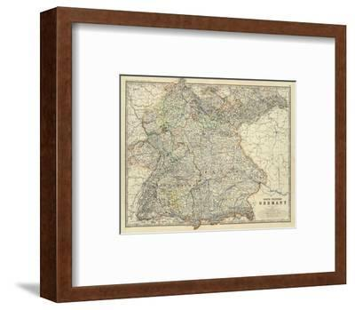 Southwestern Germany, c.1861-Alexander Keith Johnston-Framed Art Print