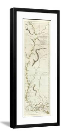 Course of the River Mississipi, from the Balise to Fort Chartres, c.1775-Lieutenant Ross-Framed Art Print