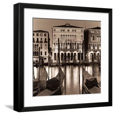 Il Gran Canale di Notte-Alan Blaustein-Framed Art Print
