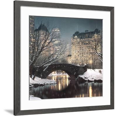 Twilight in Central Park-Rod Chase-Framed Art Print
