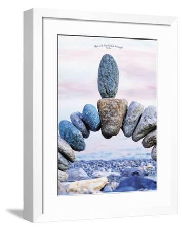 Which is the Stone That Holds the Bridge--Framed Art Print