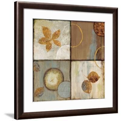 Circle Leaf Patterns II-Jenny Siekmann-Framed Art Print