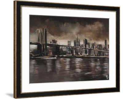 New York, Brooklyn Bridge-Yuliya Volynets-Framed Art Print
