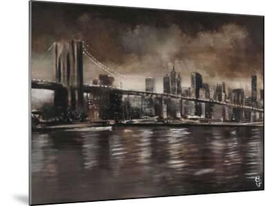 New York, Brooklyn Bridge-Yuliya Volynets-Mounted Art Print