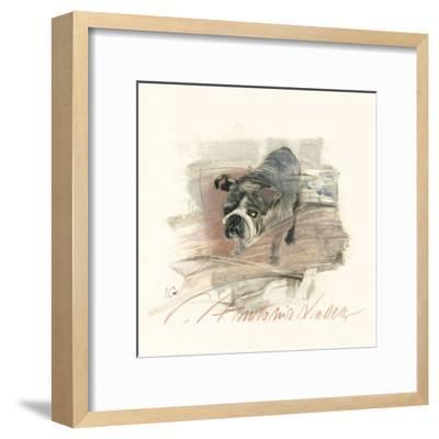 Calle Antonio Valdez-Ines Champagne-Framed Art Print