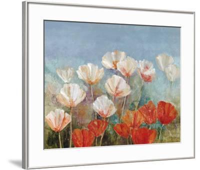 Blushing Poppies-Angellini-Framed Art Print