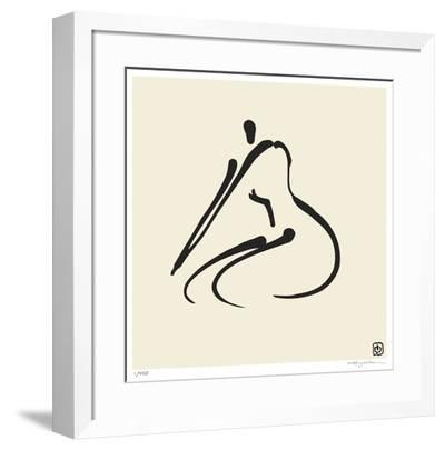 Abstract Female Nude VI-Ty Wilson-Framed Giclee Print
