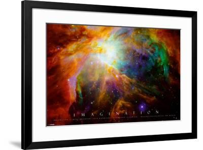 Imagination Nebula - Albert Einstein Quote--Framed Poster