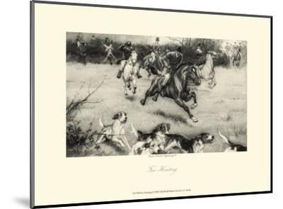 Fox Hunting-C^e^ Brock-Mounted Art Print