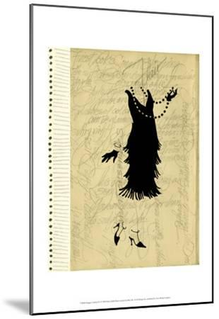 Flapper Fashion IV-Elissa Della-piana-Mounted Art Print