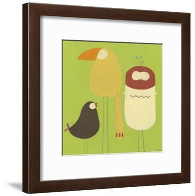 Feathered Friends I-Erica J^ Vess-Framed Art Print