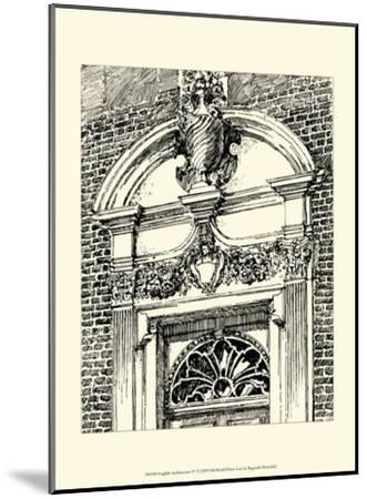 English Architecture IV-Reginald Blomfield-Mounted Art Print
