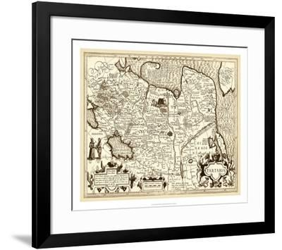 Antiquarian Map IV--Framed Giclee Print