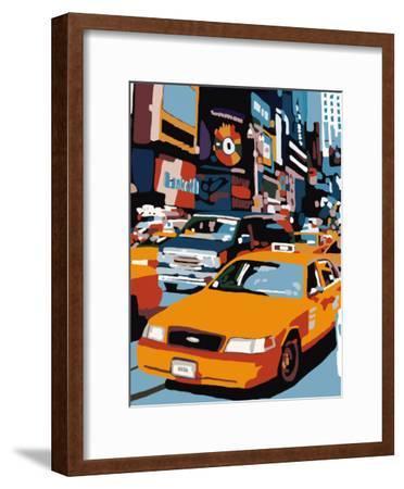 Taxi, New York-Giovanni Manzo-Framed Art Print