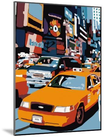 Taxi, New York-Giovanni Manzo-Mounted Art Print