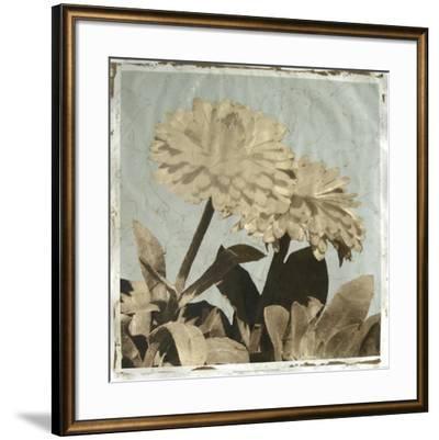 Antiqued Floral and Sky II-Megan Meagher-Framed Giclee Print