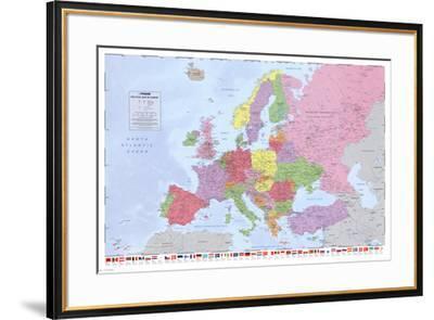 Political Map of Europe--Framed Poster