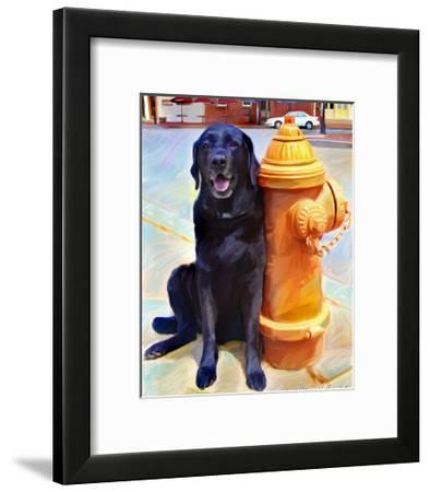Lab's Best Friend-Robert Mcclintock-Framed Art Print