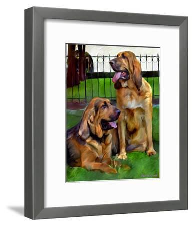 Bloodhounds-Robert Mcclintock-Framed Art Print