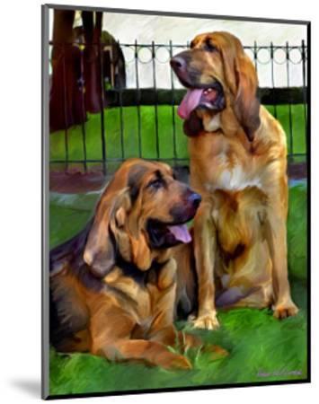 Bloodhounds-Robert Mcclintock-Mounted Art Print