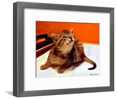 Birdie Scratches-Robert Mcclintock-Framed Art Print