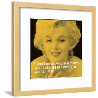 Marilyn: Man's World--Framed Art Print