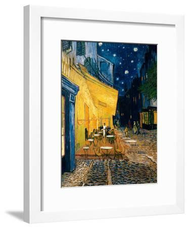 The Café Terrace on the Place du Forum, Arles, at Night, c.1888-Vincent van Gogh-Framed Art Print