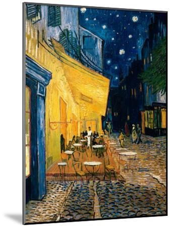The Café Terrace on the Place du Forum, Arles, at Night, c.1888-Vincent van Gogh-Mounted Art Print