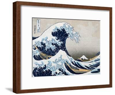 The Great Wave at Kanagawa (from 36 views of Mount Fuji), c.1829-Katsushika Hokusai-Framed Art Print