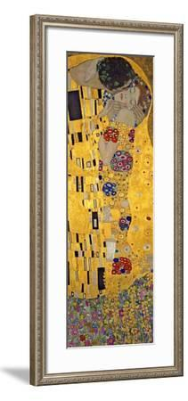 The Kiss, c.1907 (detail)-Gustav Klimt-Framed Art Print