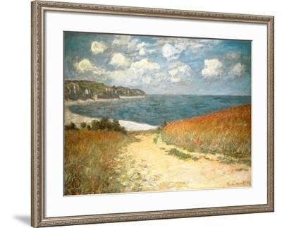 Path Through the Corn at Pourville, c.1882-Claude Monet-Framed Art Print
