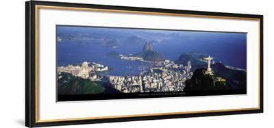 View over the City and Bay, Rio de Janeiro-Tom Mackie-Framed Art Print