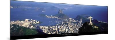 View over the City and Bay, Rio de Janeiro-Tom Mackie-Mounted Art Print